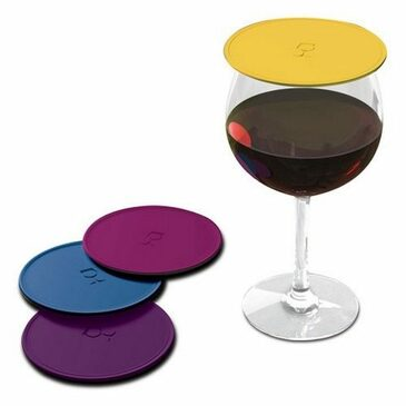Drink Tops Outdoor Drink Covers Set, Gently Suctions to Glasses Keeping Bugs Out, Aromas In, and Reduces Splashing