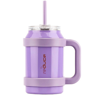 Reduce Cold-1 32oz Large Water Mug With Straw and Easy-Carry Handle – Perfect Large Tumbler for Hot and Cold Drinks, 30 Hours Cold – Sweat-Proof Body, Leak-Proof Lid, BPA Free