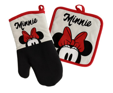 Disney Kitchen Oven Mitts w/Neoprene for Easy Non-Slip Gripping - Protect Your Hands in The Kitchen - Heat Resistant Kitchen Accessories