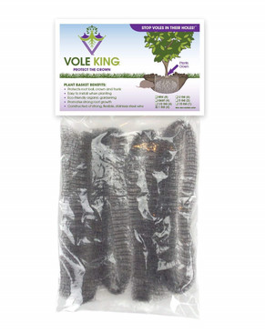 Vole King Plant Baskets - Protect Plants, Trees and Flowers From Voles, Gophers, Moles Without Repellent - Protect Landscaping From Mini Burrowing Animals - A One Time Solution