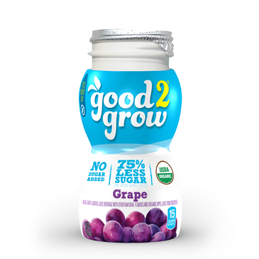 good2grow Organic Low Sugar Juicy Waters Refill, 24-pack of 6-Ounce BPA-Free Juice Bottles, Non-GMO and USDA Certified Organic with 75% Less Sugar, for use with our Spill-Proof Character Toppers