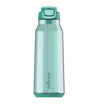 Reduce Water Bottle – Hydrate Bottle, 50oz – With Hygienic Flip Top Lid and Carry Handle – Leak Proof, Cupholder Friendly – Flip, Sip and Go – Tritan Plastic