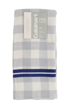 Cuisinart Buffalo Check Cotton Dish Towels – 2 Pack, Gray and Navy – Absorbent, Quick-Drying and Durable Kitchen Hand Towel Set – Perfect for Drying Dishes and Glassware – 16 x 28 Inches