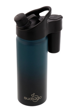 Suds2Go Portable Stainless Steel Water Bottle and Hand Wash System (20oz) - Double Walled and Vacuum Sealed with Leakproof Lid- Lightweight Design for Camping, Sports and Travel