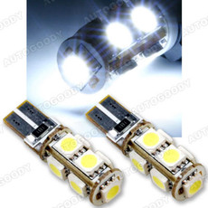 T10 LED Bulbs with Built-in Load Resistors 9-SMD for Backup Reverse Lights