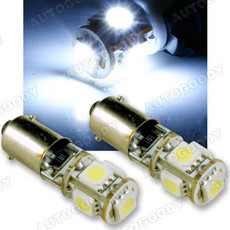 Error Free BA9s 64132 H6W LED Light Bulbs With Load Resistors For European Cars