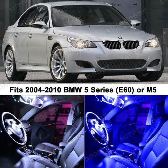 Premium Led Lights Interior Package Upgrade For Bmw 5 Series 2004