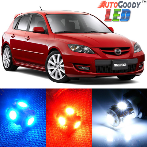 Premium Interior LED Lights Package Upgrade for Mazda 3 Mazda3 (2004-2009)