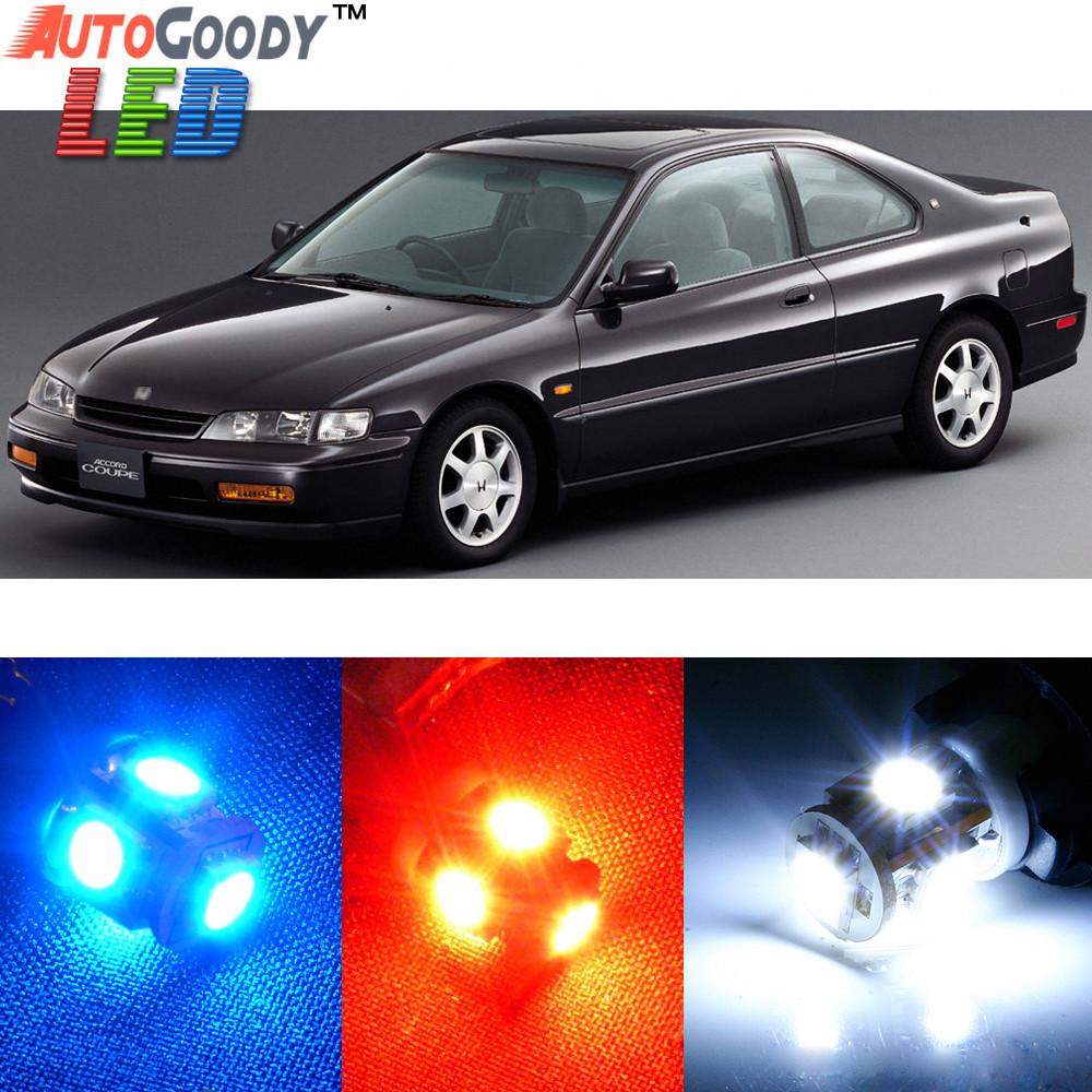 White Interior License Plate LED Light Package Fits 1998-2002 Honda Accord Sedan