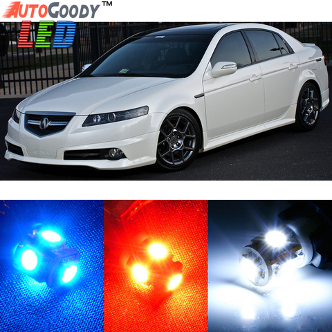 Acura TL 2004-2008 BLUE Interior LED Package 7 Pieces