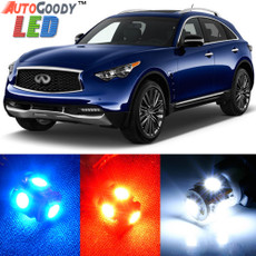 Premium Interior LED Lights Package Upgrade for Infiniti FX35 FX37 FX50 QX70 (2009-2019)