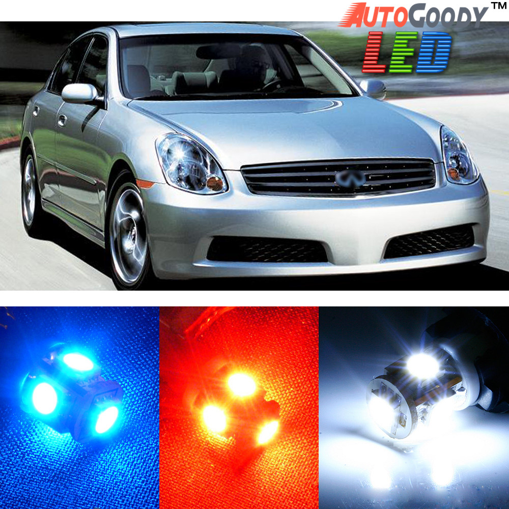 Premium Interior Led Lights Package Upgrade For Infiniti G35 2003