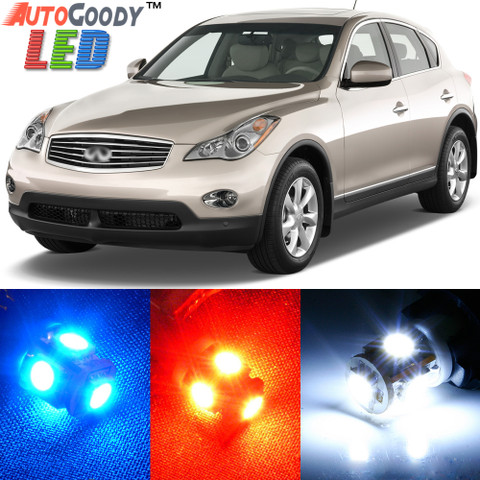 AutoGoody Premium Interior LED Lights Package Upgrade for Infiniti EX35 (2008-2012)