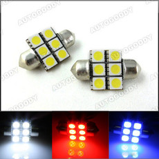 "1.25"" 31mm Festoon LED Bulbs 6-SMD 3022 3175 DE3175"