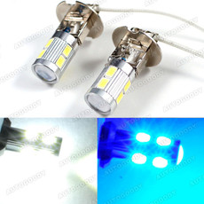 H3 LED Bulbs for Driving Fog Lights High Beam 10-SMD