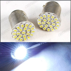 1156 White LED Bulbs for Backup Reverse Tail Lights 22-SMD