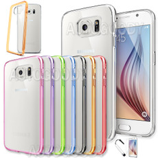 Slim Transparent Crystal Clear Hard TPU Cover Case for Samsung Galaxy S6 / S6 EDGE #GS61