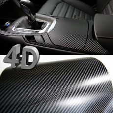 Premium 4D Gloss Black Carbon Fiber Vinyl Wrap Bubble Free Air Release