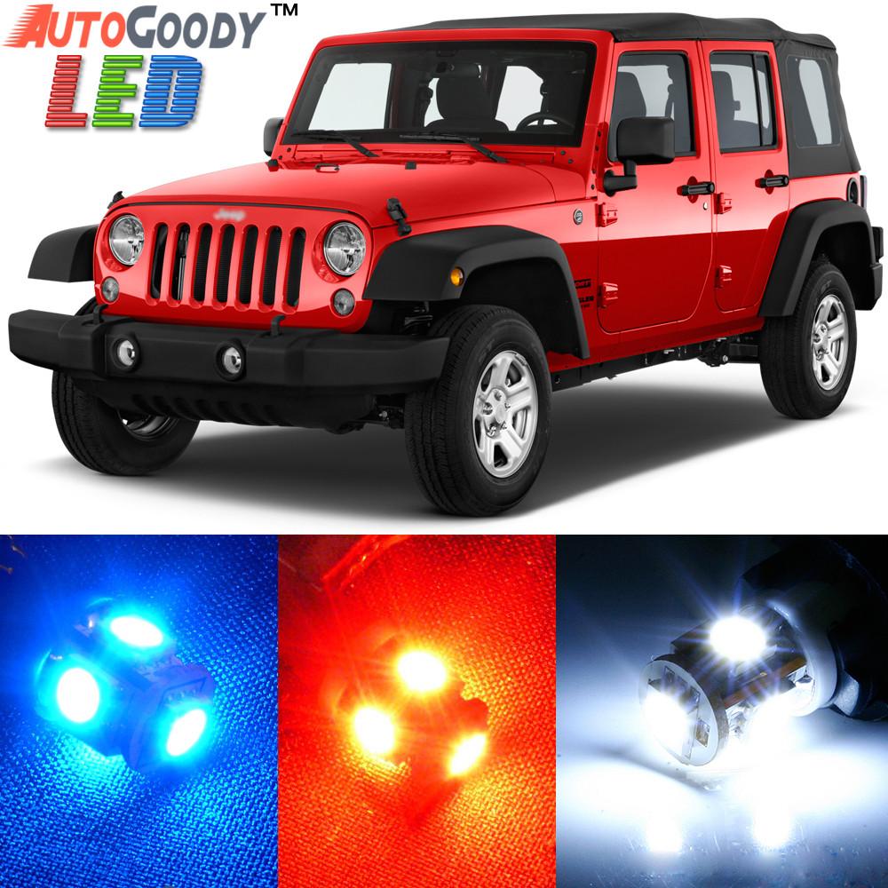 Premium Interior Led Lights Package Upgrade For Jeep Wrangler 2007 2019