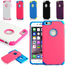 Hard + Soft Rubber Hybrid Impact Defender Case for iPhone 6 / 6 Plus #R21