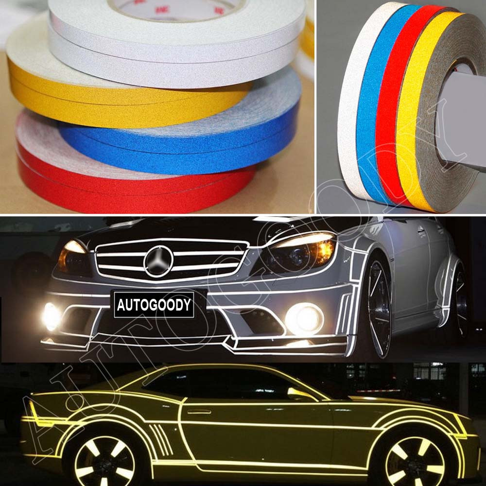 Reflective Body Stripe Sticker DIY Tape Self-Adhesive 150 feet Roll