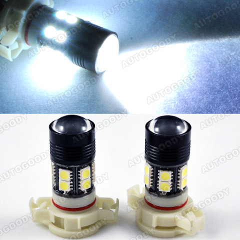 5202 5201 H16 PSX24W Super Bright High Power CREE LED Bulbs for DRL Fog Lights 15W