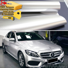Premium Super Gloss Metallic Silver Vinyl Film Wrap Bubble Free Air Release