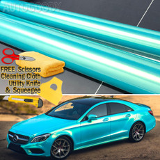 Super Gloss Metallic Ice Blue to Gold Vinyl Film Wrap Chameleon Air Bubble Free