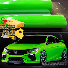 Premium Gloss Green Vinyl Film Wrap Bubble Free Air Release