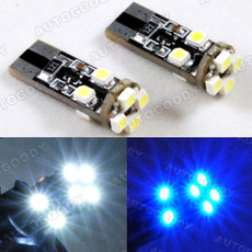 T10 Wedge LED Bulbs with Built-in Load Resistors 8-SMD for Parking Eyelid Lights