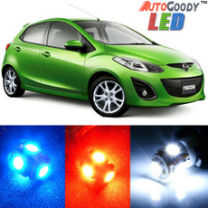 Premium Interior LED Lights Package Upgrade for Mazda 2 Mazda2 (2011-2014)