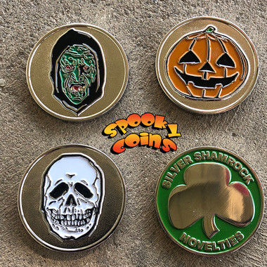 Set is Three coins each with the Silver Shamrock back