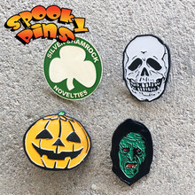 Spooky Pins Halloween Pin Set Skull, Jack O Lantern, and Witch