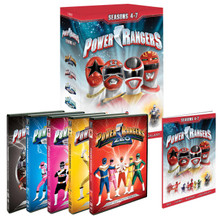 Power Rangers DVD Set Seasons 4, 5, 6, 7 (Zeo, Turbo, In Space, Lost Galaxy)