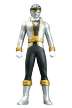 Power Rangers Super Megaforce Gokaiger Vinyl figure Silver Ranger