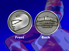 Power Morphicon 2010 Power Rangers Red Ranger Convention Coin