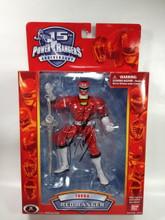 Power Rangers 15th Anniversary Signed Red Turbo Ranger Action Figure Jason David Frank