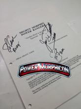 Original Mighty Morphin Power Rangers Signed Script Episode 138 Jason David Frank Steve Cardenas Paul Schrier