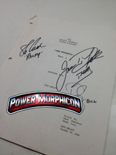 Original Mighty Morphin Power Rangers Signed Script Episode 101 Jason David Frank Steve Cardenas Paul Schrier