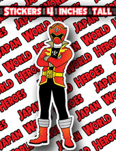 Japan World Heroes Sticker Gokaiger Gokai Red
