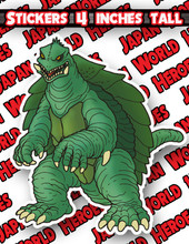 Japan World Heroes Sticker Gamera