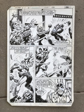 Original Comic Book artwork by Art by George Tuska and Alfredo Alcala Masters of the Universe issue 1 page 20 1982