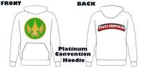 Power Morphicon 2018 Convention Power Rangers Hoodie Drakkon logo Medium