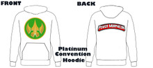Power Morphicon 2018 Convention Power Rangers Hoodie Drakkon logo Extra Large