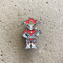 Power Morphicon 2018 Power Rangers Beast Morphers Go Busters Red Cheetah Buddy Roid Pin
