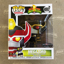 Power Morphicon 2018 Power Rangers Black and Gold Megazord pop with Protector MMPR
