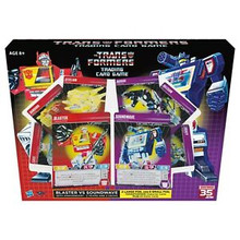 Transformers The Trading Card Game Blaster and Soundwave pack plus Omnibots SDCC Comic Con Convention Pack Hasbro