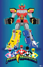 Power Morphicon 2014 Convention Print Mighty Morphin Power Rangers
