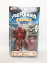 Power Rangers Lightspeed Rescue X-ray Lightspped Racer Clear Red
