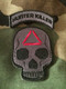 Hunter Killer Skull and Rocker Set -morale patch